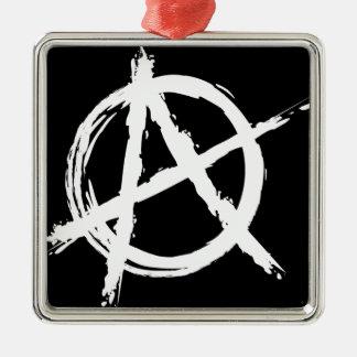 Anarchy Silver-Colored Square Decoration
