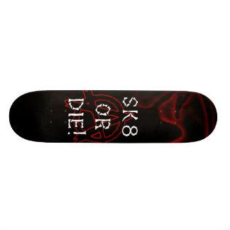 Anarchy Sk8 or Die Infra Red Skate Board Deck