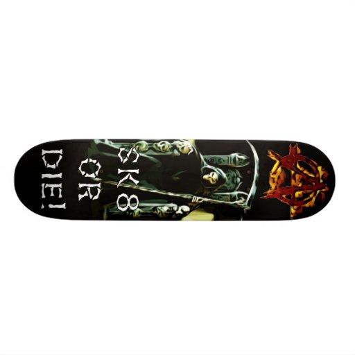 Anarchy Sk8 or Die Skateboard Deck