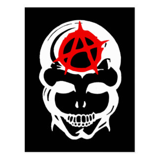 Anarchy Skull Postcard