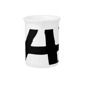 Anarchy Symbol Pitcher