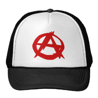 Anarchy Symbol Red A and Circle Without Ruler Cap