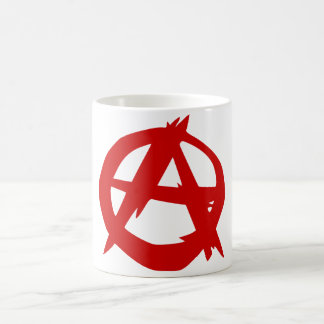 Anarchy Symbol Red A and Circle Without Ruler Coffee Mug