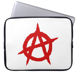 Anarchy symbol red punk music culture sign chaos p laptop sleeve