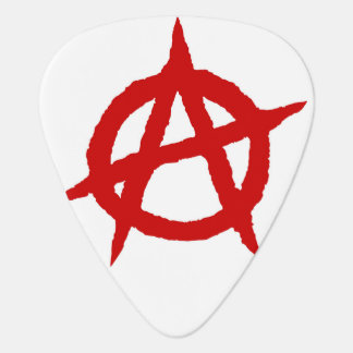 Anarchy symbol red punk music culture sign chaos p plectrum