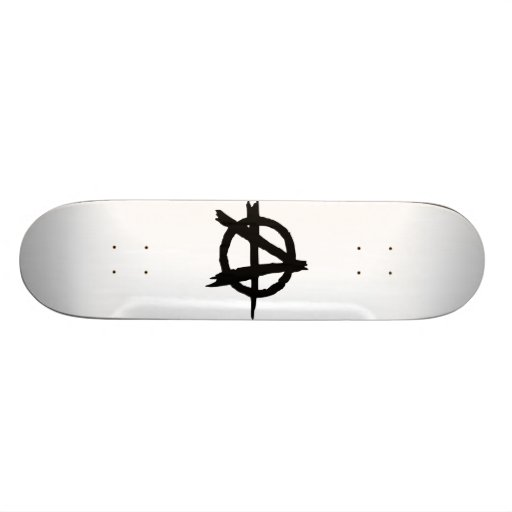 Anarchy Symbol Skate Board