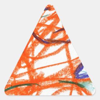 Anarchy Woman Triangle Sticker
