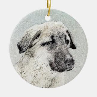 Anatolian Shepherd Ceramic Ornament