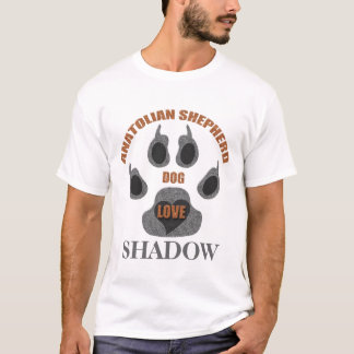 Anatolian Shepherd Dog Breed Paw Print Shirt