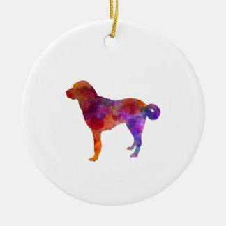 Anatolian Shepherd Dog in watercolor Ceramic Ornament