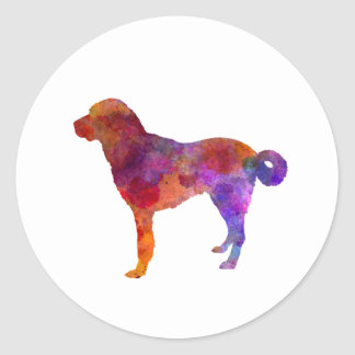 Anatolian Shepherd Dog in watercolor Classic Round Sticker