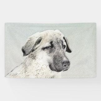 Anatolian Shepherd Painting - Original Dog Art Banner