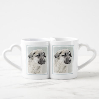 Anatolian Shepherd Painting - Original Dog Art Coffee Mug Set