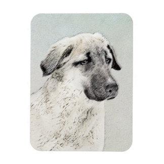 Anatolian Shepherd Painting - Original Dog Art Magnet