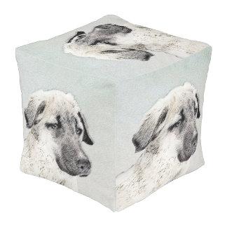Anatolian Shepherd Painting - Original Dog Art Pouf