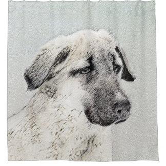 Anatolian Shepherd Painting - Original Dog Art Shower Curtain