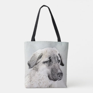 Anatolian Shepherd Painting - Original Dog Art Tote Bag