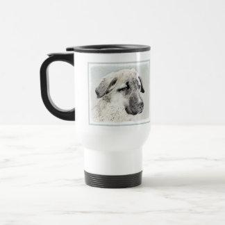 Anatolian Shepherd Painting - Original Dog Art Travel Mug
