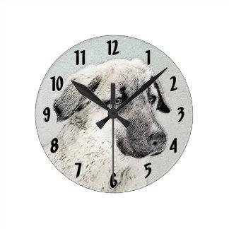 Anatolian Shepherd Round Clock