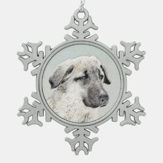Anatolian Shepherd Snowflake Pewter Christmas Ornament
