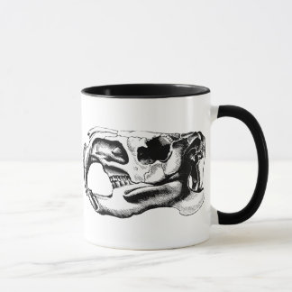 Anatomical Beaver Skull Black & White Mug