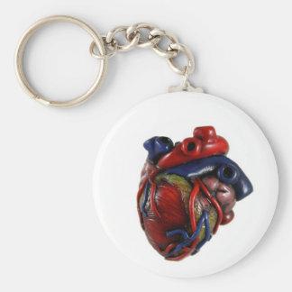 Anatomical Heart Basic Round Button Key Ring
