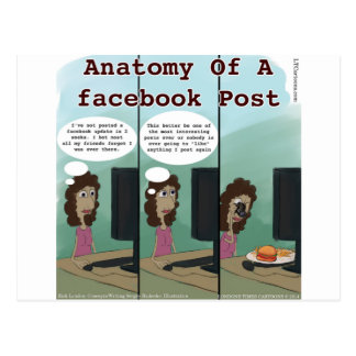 Anatomy Of A facebook Post Funny Postcard