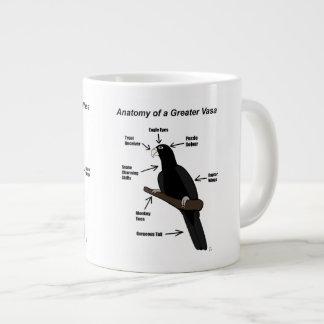 Anatomy of a Greater Vasa Parrot Large Coffee Mug