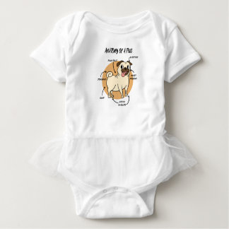 ANATOMY OF A PUG BABY BODYSUIT