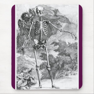 Anatomy of Death vintage woodcut mousepad