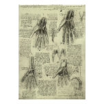 Anatomy of the Human Hand by Leonardo da Vinci Poster