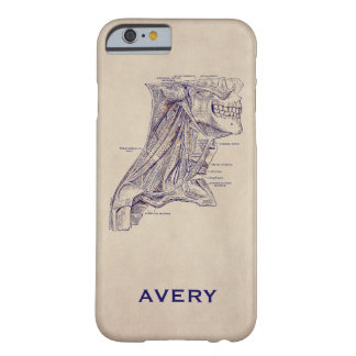 Anatomy Vintage Neck Muscles Old Paper Texture Barely There iPhone 6 Case