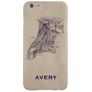 Anatomy Vintage Neck Muscles Old Paper Texture Barely There iPhone 6 Plus Case