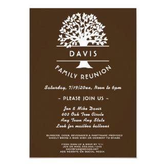 Ancestry Tree Chocolate Family Reunion Invitation
