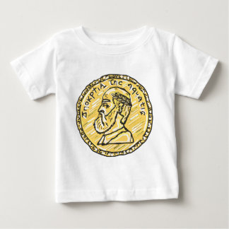 Anchient Coin Sketch Baby T-Shirt