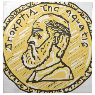Anchient Coin Sketch Napkin