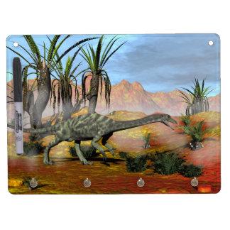 Anchisaurus dinosaur - 3D render Dry Erase Board With Key Ring Holder