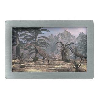Anchisaurus dinosaurs - 3D render Belt Buckle