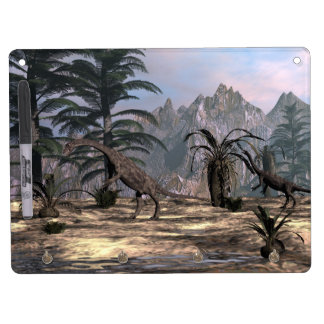 Anchisaurus dinosaurs - 3D render Dry Erase Board With Key Ring Holder