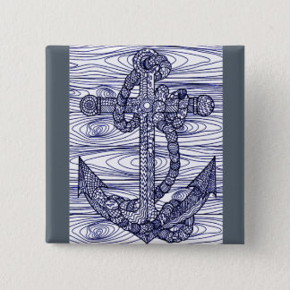 Anchor 15 Cm Square Badge