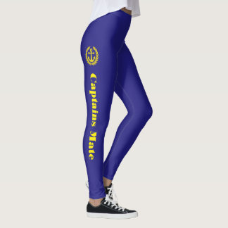 Anchor and Captains mate text Leggings