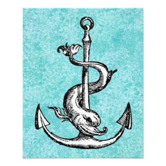 Anchor and Dolphin - Festina Lente Photo Print