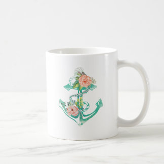 Anchor and Roses Coffee Mug