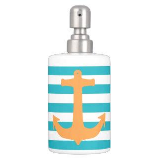 Anchor and stripes bathroom sets
