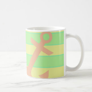 Anchor and Stripes Coffee Mug