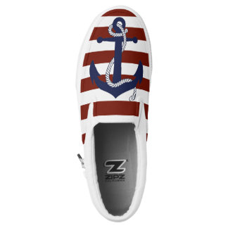 Anchor and Stripes Printed Shoes