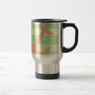 Anchor and Stripes Travel Mug