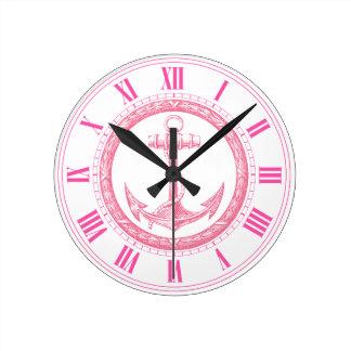 Anchor and Wreath Clocks