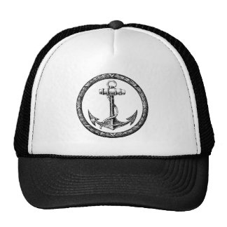 Anchor and Wreath Mesh Hat