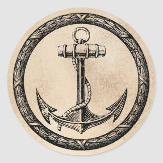 Anchor and Wreath Stickers
